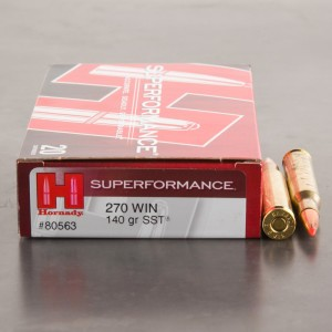 20rds - 270 Win. Hornady Superformance 140gr. SST Ammo