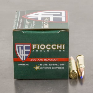 25rds – 300 AAC BLACKOUT Fiocchi Extrema 125gr. Hornady SST Ammo