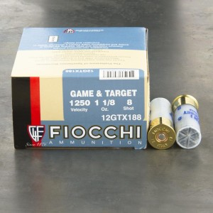 "25rds - 12 Gauge Fiocchi Texas Dove 2 3/4""  1 1/8 oz. #8 Shot Ammo"