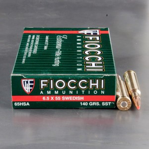 20rds - 6.5x55 Fiocchi 140gr. SST Ammo