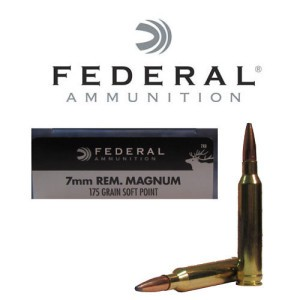 20rds - 7mm Rem Mag Federal Power-Shok 175gr. Soft Point Ammo