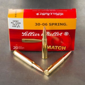 20rds - 30-06 Seller & Bellot 168gr. HPBT Match