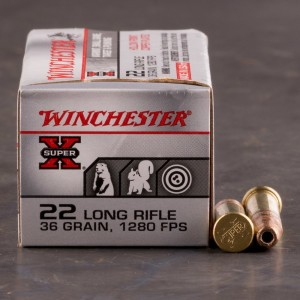 500rds - 22LR Winchester High Velocity Wooden Box 36gr. CPHP Ammo