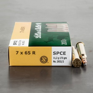 20rds - 7x65 Rimmed Sellier & Bellot 173gr. SPCE Ammo