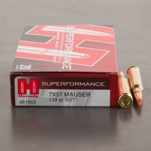 20rds - 7mm Mauser Hornady 139gr. SST Superformance Ammo