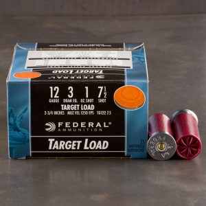 "25rds - 12 Gauge Federal Top Gun 2 3/4"" 3 Dram 1 Ounce #7.5 Shot Ammo"