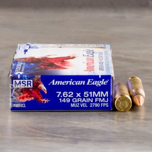 7.62x51mm - 149 Grain FMJ - Federal XM80CL - 500 Rounds