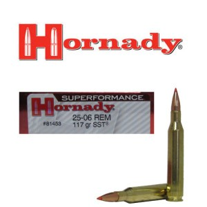 20rds - 25-06 Rem. Hornady Superformance 117gr. SST Ammo