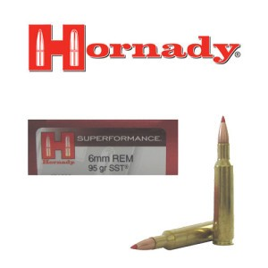 20rds - 6mm Rem. Hornady Superformance 95gr. SST Ammo