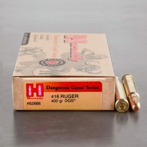 20rds - 416 Ruger Hornady Dangerous Game Series 400gr. DGS Ammo
