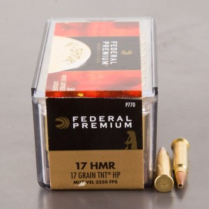 50rds - 17 HMR Federal Premium TNT Hollow Point Ammo