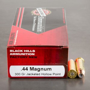 50rds - 44 Mag Black Hills 300gr. Jacketed Hollow Point Ammo