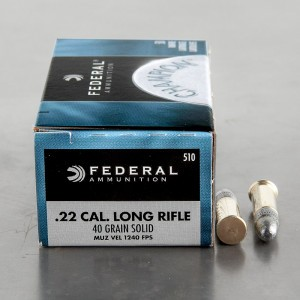 100rds – 22 LR Federal Champion Can Cooler Combo 40gr. LRN Ammo