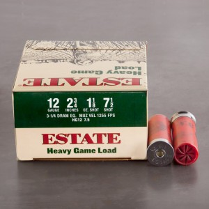 "25rds - 12 Gauge Estate 2 3/4"" 3 1/4 Dram 1 1/8oz. #7 1/2 Shot"
