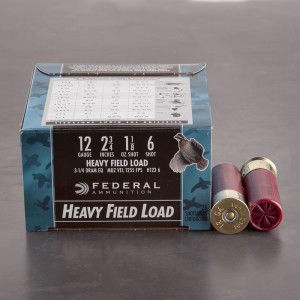 "25rds - 12 Gauge Federal Game Shok Heavy Field 2 3/4"" 1 1/8oz. #6 Shot Ammo"