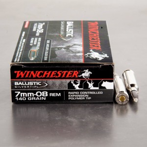 20rds - 7mm-08 Rem. Winchester 140gr. SBST Ammo