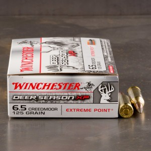 20rds – 6.5 Creedmoor Winchester Deer Season XP 125gr. Extreme Point Polymer Tip Ammo