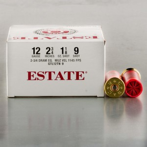 "250rds - 12 Gauge Estate Cartridge 2-3/4"" 1-1/8oz. #9 Shot Ammo"