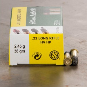 50rds - 22LR Sellier & Bellot 38 gr. High Velocity Hollow Point Ammo