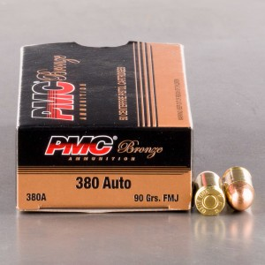 50rds - 380 Auto PMC 90gr. FMJ Ammo