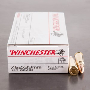 20rds - 7.62x39 Winchester USA 123gr. FMJ Ammo