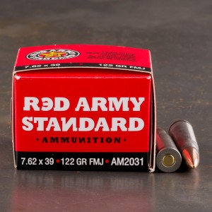 20rds - 7.62x39mm Red Army Standard 7.62x39mm 122gr. FMJ Ammo