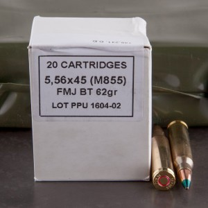 200rds - 5.56 Prvi NATO 62gr. M855 FMJ Ammo In Sealed Battle Pack