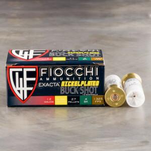 "250rds - 12 Gauge Fiocchi 2 3/4"" 27 Pellet #4 Buckshot Ammo"