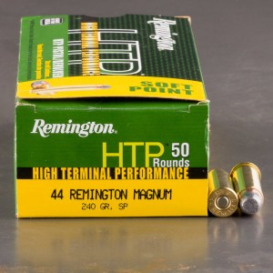 50rds - 44 Mag Remington HTP 240 Grain SP - 50 Rounds