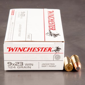 50rds - 9X23 Winchester 124gr. Jacketed Soft Point Ammo