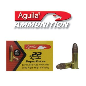 500rds - 22LR Aguila High Velocity 40gr. Solid Point Ammo