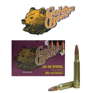 20rds - 30-06 Golden Bear 168gr. Soft Point Ammo