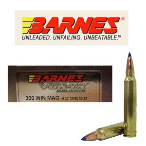 20rds - 300 Win. Mag Barnes VOR-TX Polymer Tip 165gr. Tipped TSX Boattail Ammo