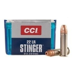 50rds - 22LR CCI Stinger 32gr. Hyper Velocity Hollow Point Ammo