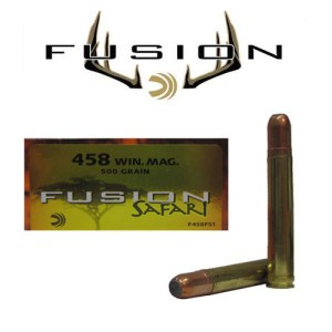 20rds - 458 Win. Mag. Federal Fusion Safari 500gr. SP Ammo
