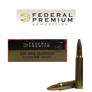 20rds - 338 Win Mag Federal Vital-Shok 250gr. Nosler Partition Ammo