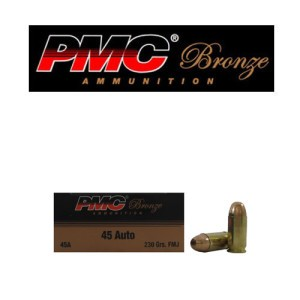 1000rds - 45 ACP PMC Bronze 230gr. FMJ Ammo