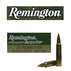 20rds - 223 Remington 55gr. Premier AccuTip-V Boat Tail Ammo