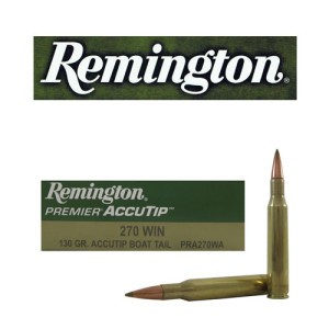 20rds - 270 Win Remington Premier 130gr. Accutip BT Polymer Tip Ammo
