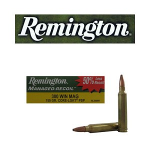 20rds - 300 Win Mag Remington Managed Recoil 150gr. Core-Lokt PSP Reduced Recoil Ammo