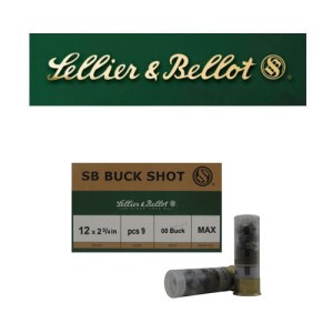 "25rds - 12 Gauge Sellier and Bellot 2 3/4"" 9 Pellet 00 Buckshot Ammo"