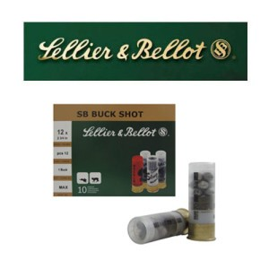 "10rds - 12 Gauge Sellier and Bellot 2 3/4"" 12 Pellet #1 Buckshot Ammo"