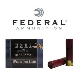 "250rds - 12 Ga. Federal Speed-Shok 3 1/2"" 1 3/8oz #3 Steel Shot"