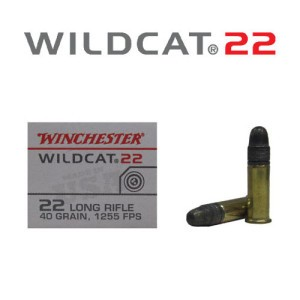 50rds - 22LR Winchester Wildcat 40gr. High Velocity RN Ammo