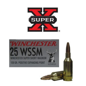 20rds - 25 WSSM Winchester Super-X 120gr. Positive Expanding Point Ammo