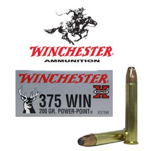 20rds - 375 Winchester Super-X 200gr. Power Point Ammo