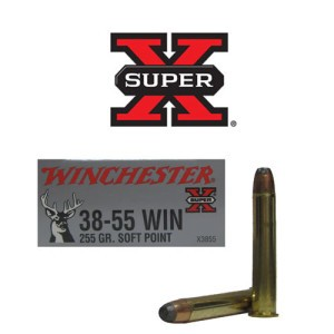 20rds - 38-55 Win 255gr. Super-X Soft Point Ammo