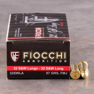 50rds - 32 S&W Long Fiocchi 97gr. Full Metal Jacket Ammo
