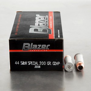 50rds - 44 Spec. CCI Blazer 200gr. Bonded GDHP Ammo