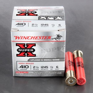 "25rds - 410 Gauge Winchester Super-X High Brass 2 1/2"" 1/2oz. #6 Shot Ammo"